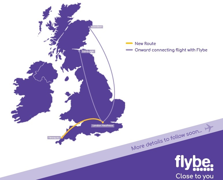 Flybe New Route Newquay / London Heathrow