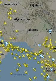 Cancellation of flights due to Pakistani & Indian Airspace Closure